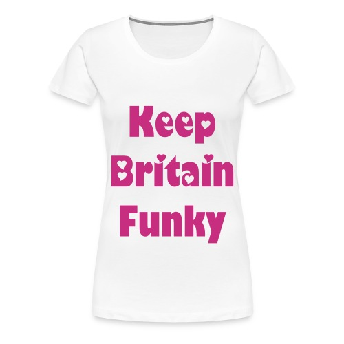 Funkster White Ladies Tee - Women's Premium T-Shirt