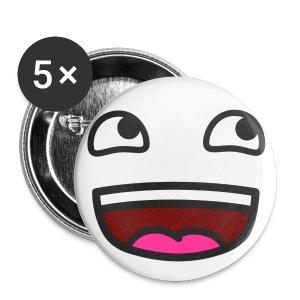 Medium Button 5 Pack Smiley Face - Buttons medium 32 mm
