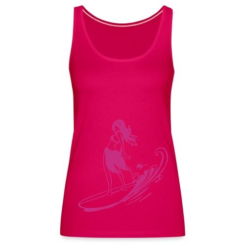 Surfergirl racer back vest - Women's Premium Tank Top