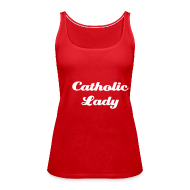 Tops ~ Frauen Premium Tank Top ~ Catholic Lady