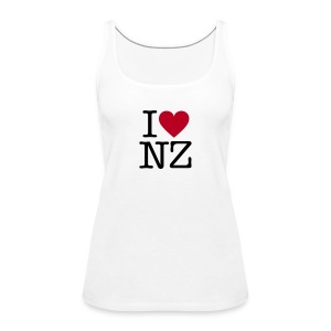 I Love NZ Womens Tank Top - Women's Premium Tank Top