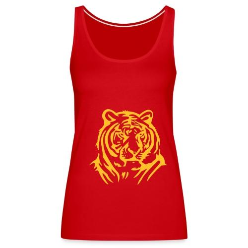 Top tygrys, czerwony - Tank top damski Premium