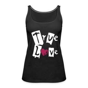 Schwarz True Love - Frauen Premium Tank Top