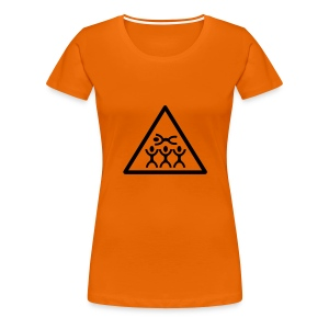 Orange Crowdsurfing - Frauen Premium T-Shirt