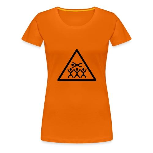 Orange Crowdsurfing - Frauen Premium T-Shirt