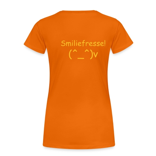 Smiliefresse - Frauen Premium T-Shirt