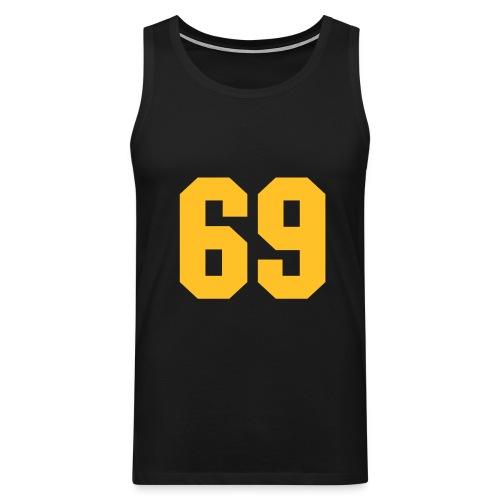 miesten hihaton t-paita 69 - Miesten premium hihaton paita