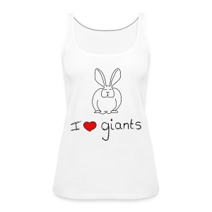 I Love Giant Rabbits - Women's Premium Tank Top
