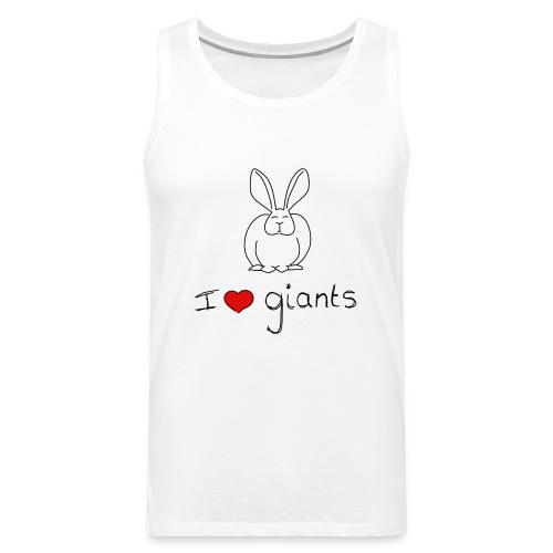I Love Giant Rabbits - Men's Premium Tank Top