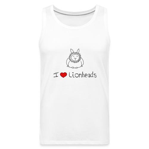 I Love Lionhead rabbits - Men's Premium Tank Top