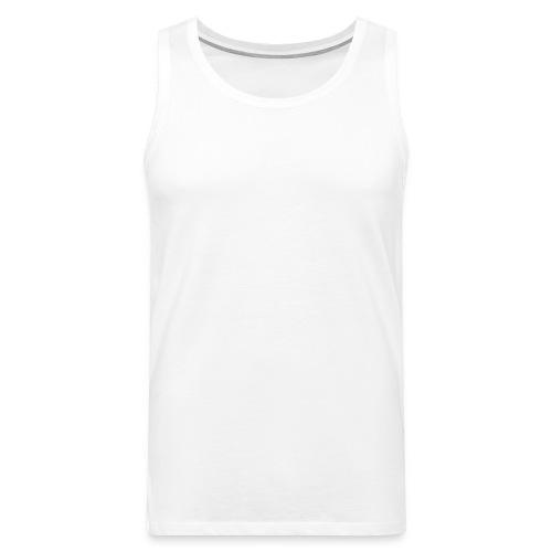 SHIRT WHITE - Miesten premium hihaton paita
