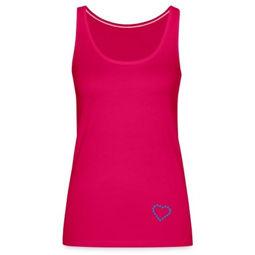 Heart spagetti strap - Pink - Women's Premium Tank Top