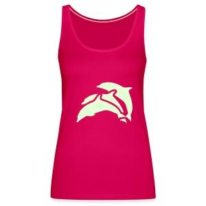 delphin t shirt glow in the dark  - Frauen Premium Tank Top