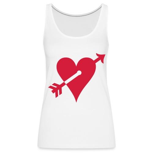 Arrow in heart tank top - Women's Premium Tank Top