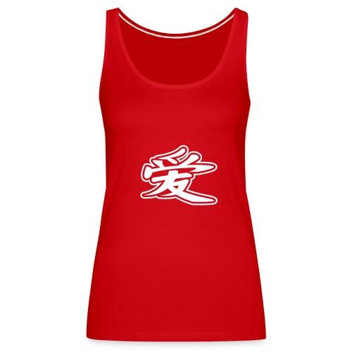 Spaghetti Top, 100% cotton, red  - Women's Premium Tank Top