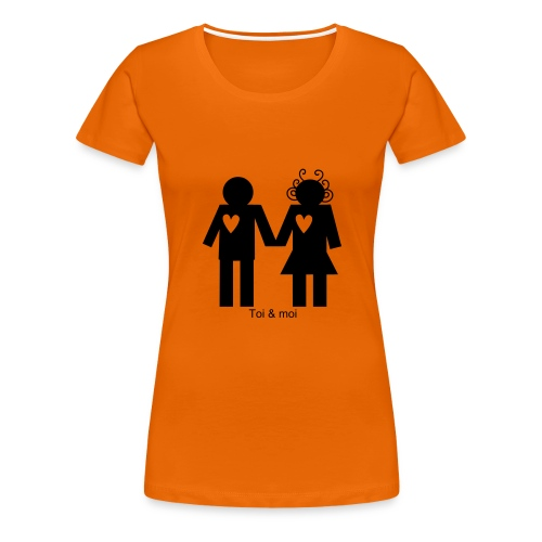 Le tee shirt orange à personnaliser - T-shirt Premium Femme