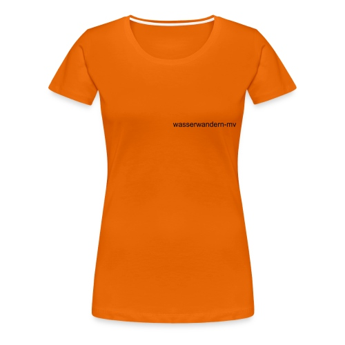 Wasserwandern in MV - Frauen Premium T-Shirt