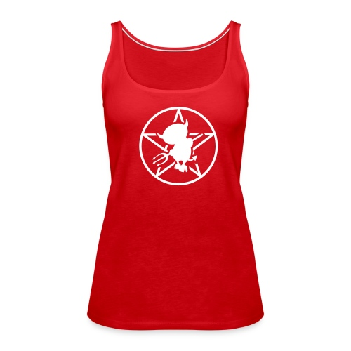 Women's Premium Tank Top - ladies Tank Top with Racerback, 100% cotton, Red