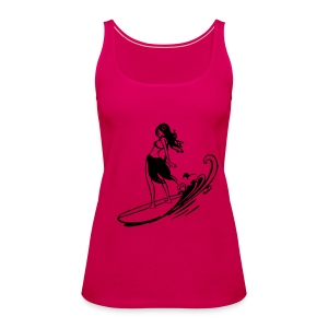 surf chick - Frauen Premium Tank Top