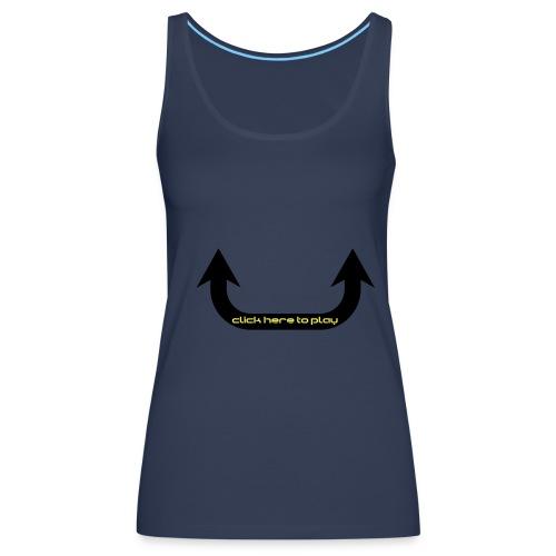 naisten paita - Naisten premium hihaton toppi