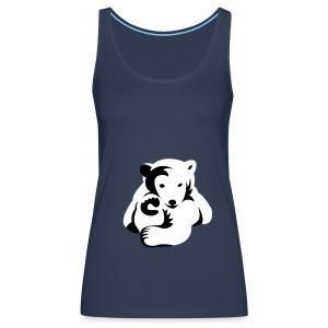 Bären-Shirt, Girlie mit Motiv - Frauen Premium Tank Top