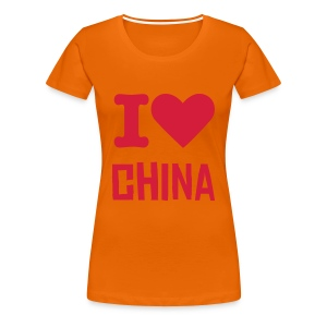 I Love China - T-shirt Premium Femme