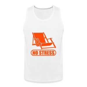 No Stress Fun-Shirt  - Männer Premium Tank Top