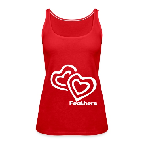 Feathers Red Top - Women's Premium Tank Top