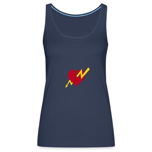 Flash heart top - Women's Premium Tank Top