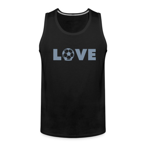 Love Football Muscle Shirt - Männer Premium Tank Top