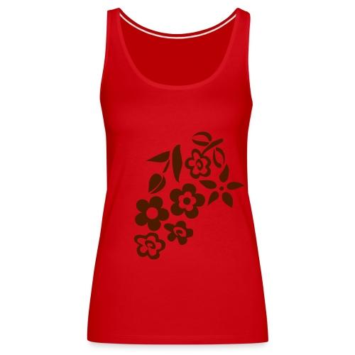 my flower red - Frauen Premium Tank Top