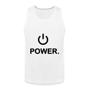 Power me! - Mannen Premium tank top