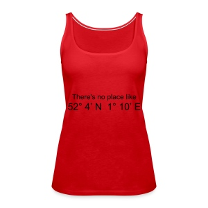There's no place like..... (Red) - Women's Premium Tank Top