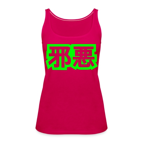 Pige Tank Pink (Logo) - Dame Premium tanktop
