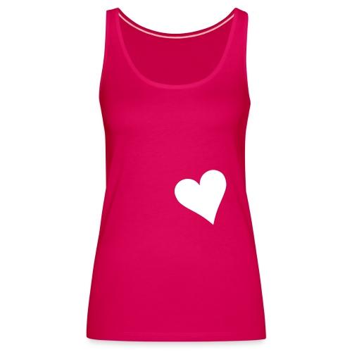 Débardeur Rose Heart Here - Débardeur Premium Femme