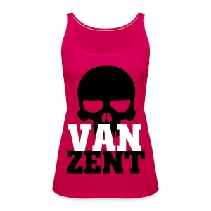Ladies Tank Top Pink with VAN ZENT Skull Print - Women's Premium Tank Top