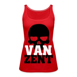 Ladies Tank Top Red with VAN ZENT Skull Print - Women's Premium Tank Top