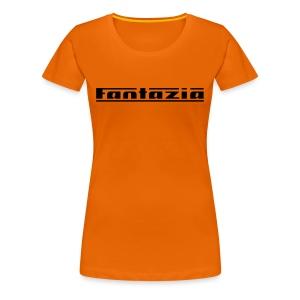 Ladies T-shirt with Fantazia logo to front - Women's Premium T-Shirt