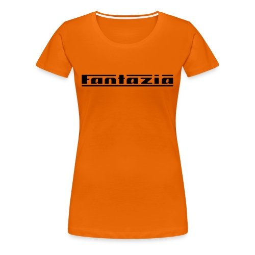 Ladies T-shirt with Fantazia logo to front - Women's Premium T-Shirt