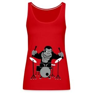 Drumming Gorilla (Various Colours) - Women's Premium Tank Top