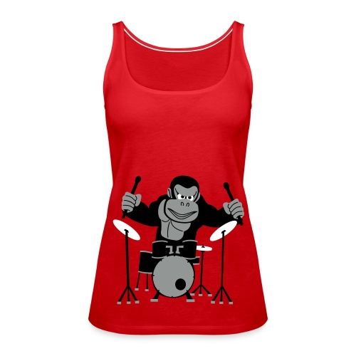 Drumming Gorilla (Various Colours) - Women's Premium Tank Top