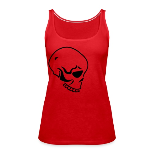 !SALE!Womens red tee with skull detail - Women's Premium Tank Top