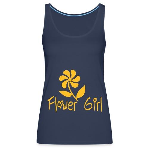 Flower Girl Blue - Women's Premium Tank Top