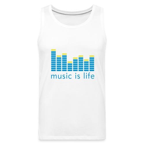 Music is Life, Live it - Men's Premium Tank Top