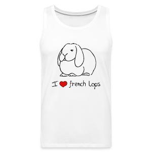I Love French Lops - Men's Premium Tank Top