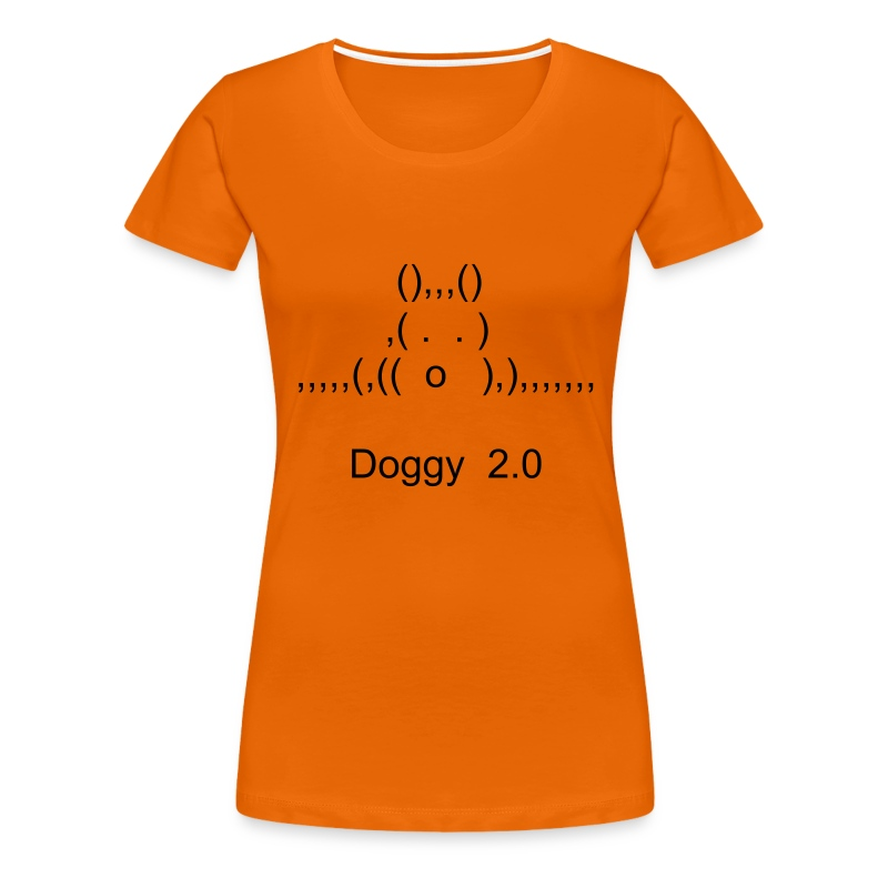 Doggy 2.0 Frau orange - Frauen Premium T-Shirt