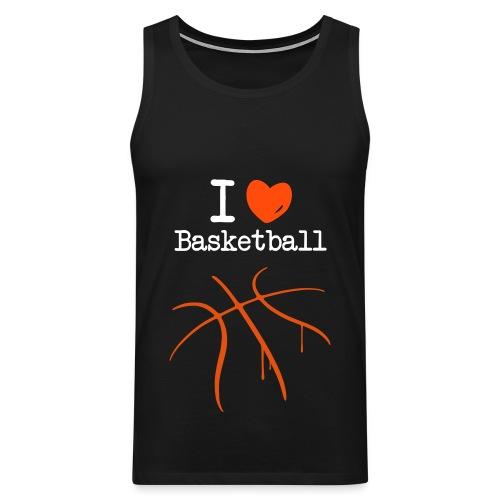 I Love Basketball - Männer Premium Tank Top