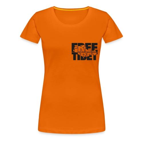 Free Tibet Spenden-T-Shirt Vorder und Rückseite bedruckt - Frauen Premium T-Shirt