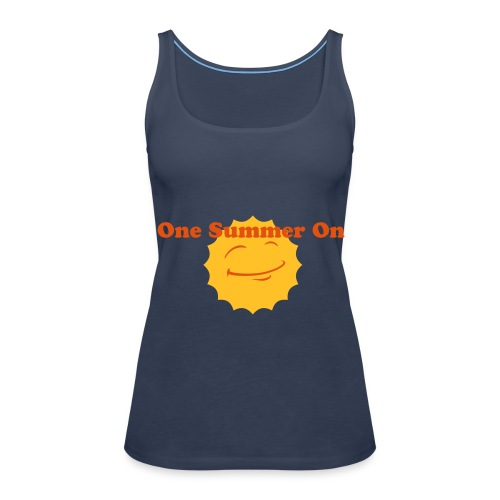 OSO blue girls sun detail - Women's Premium Tank Top