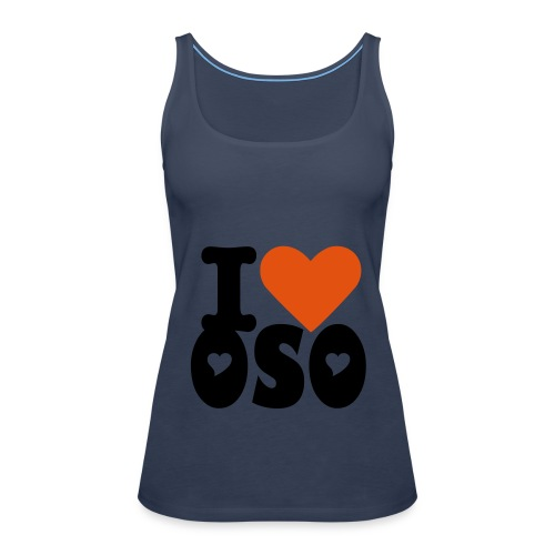 OSO blue girls heart detail - Women's Premium Tank Top